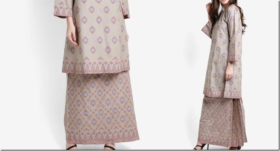 grey-songket-print-cotton-kurung