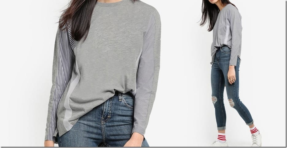 grey-stripe-hybrid-long-sleeve-top