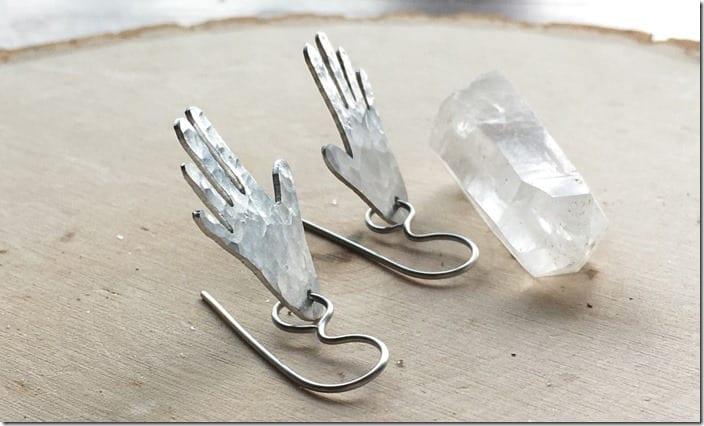 hammered-hand-dangle-earrings