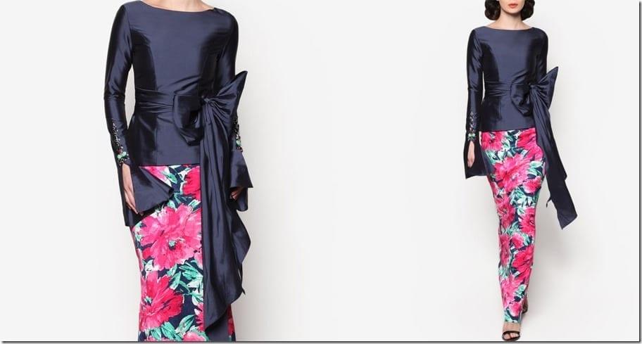 navy-floral-ribbon-statement-modern-kurung