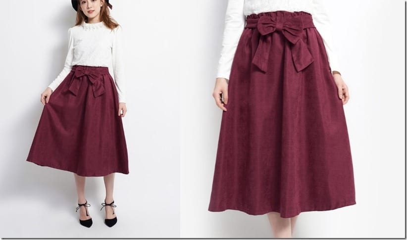 ribbon-waist-maroon-midi-skirt
