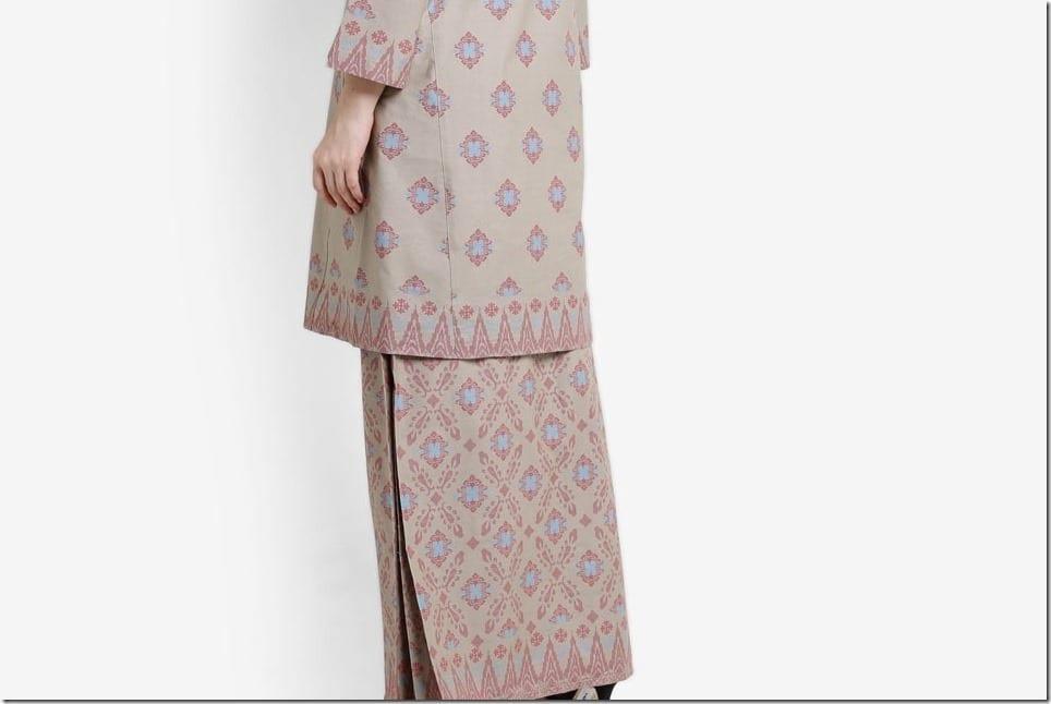 Baju Raya 2017 ~ Songket Print Modern Kurung
