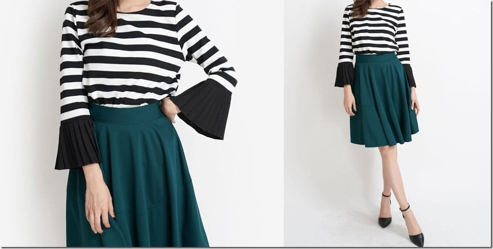 striped-top-contrast-bell-sleeves