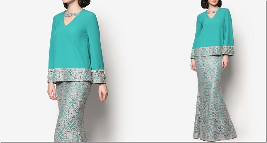 turquoise-lace-crepe-modern-kurung