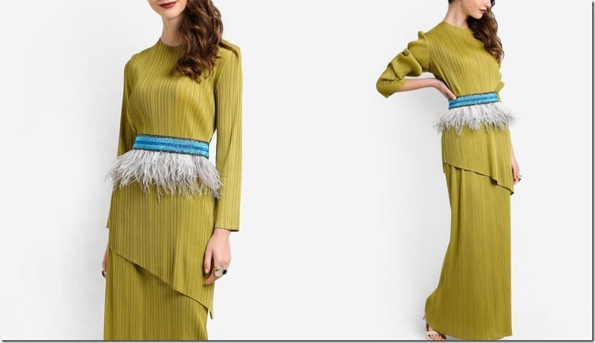 asymmetric-plisse-feather-waist-kurung