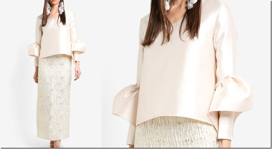 beige-structured-bell-sleeve-top