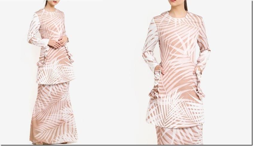 brown-bamboo-print-kurung