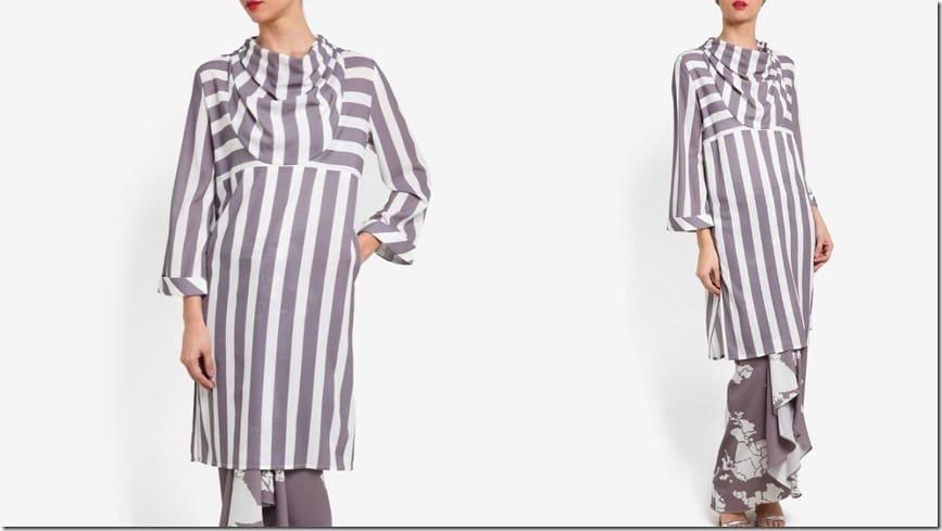 cowl-neck-stripe-abstract-kurung