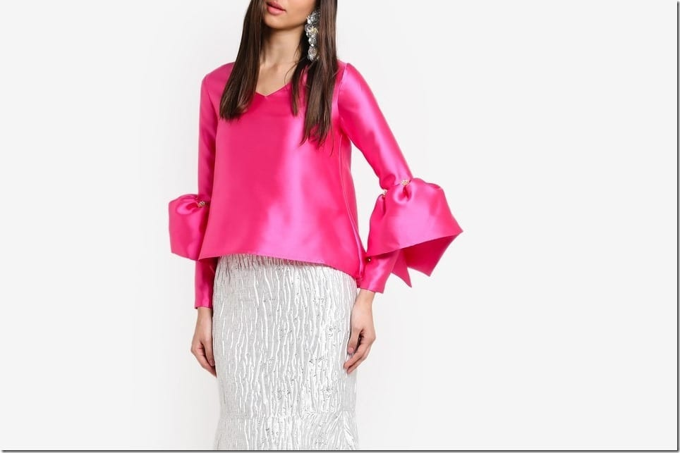 Festive Bell Sleeve Blouse Style To Wear For Raya 2017