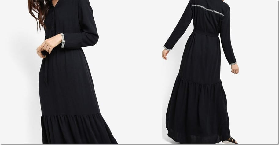 flowy-black-maxi-peasant-dress