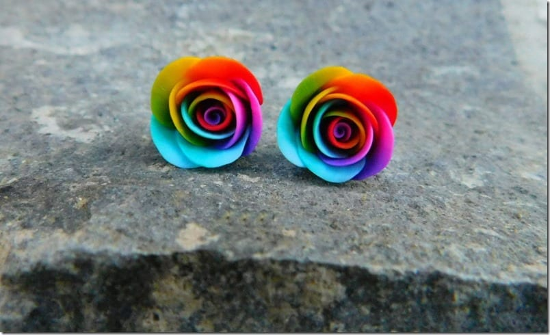 rainbow-rose-stud-earrings