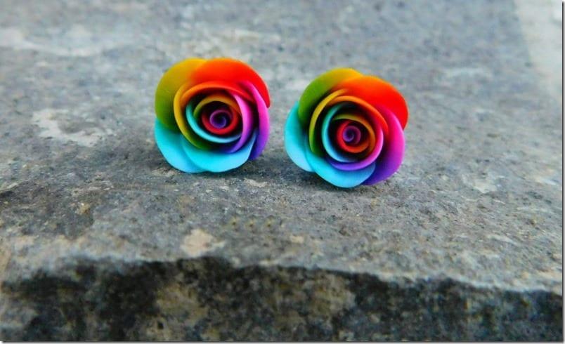 rainbow-rose-stud-earrings
