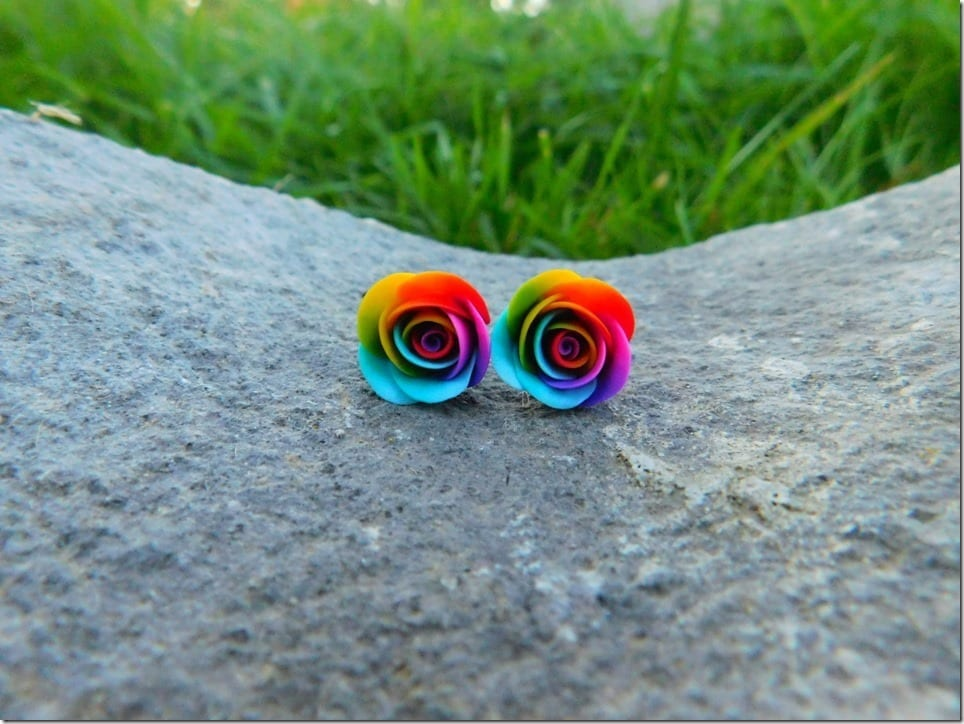 Wear Rainbow Stud Earrings To Express Your Love For Diversity