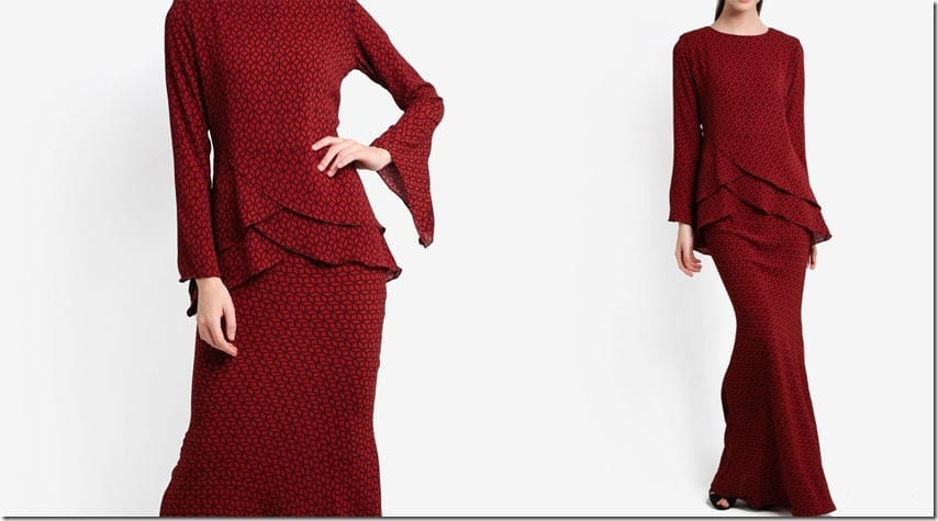 red-criss-cross-midi-kurung