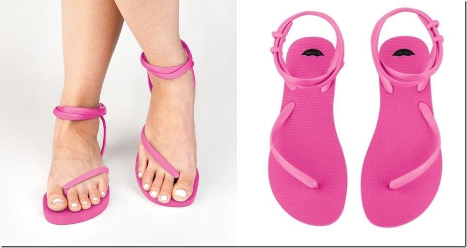 super-pink-fleeps-sandals