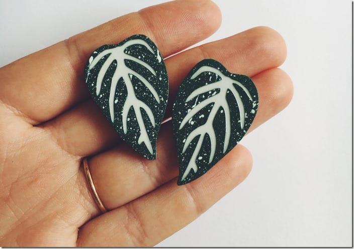 botanical-leaf-earrings