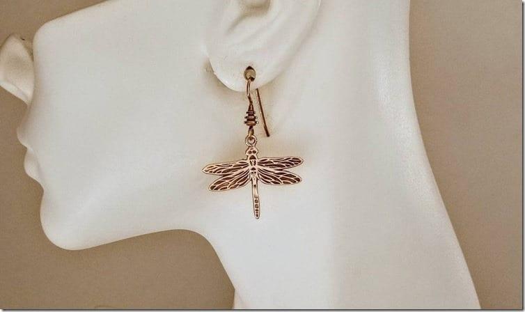 bronze-dangly-dragonfly-earrings