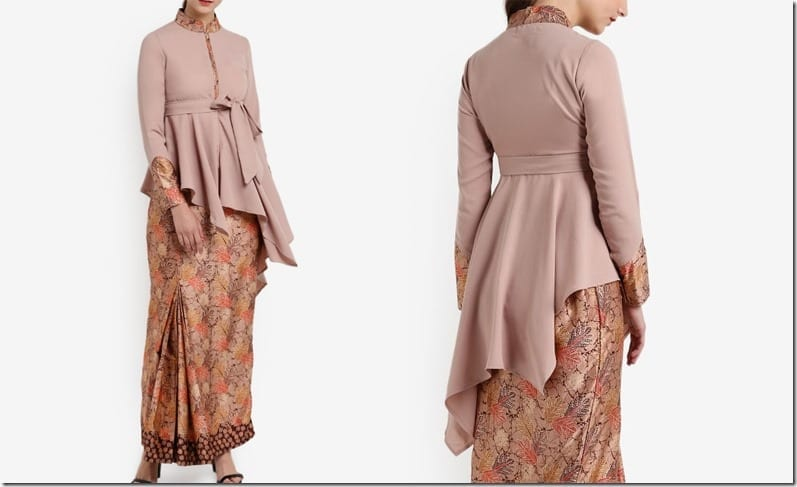brown-mandarin-collar-batik-kurung