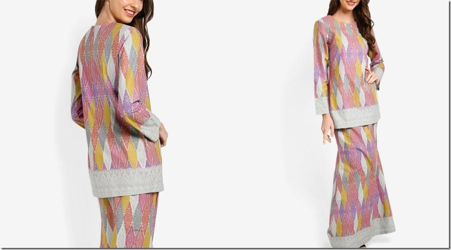 colorful-grey-songket-print-mod-kurung