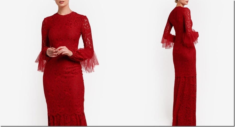 dramatic-red-crochet-lace-dress