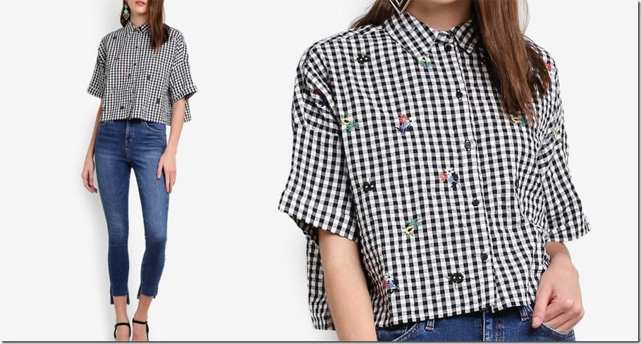 floral-embroidered-gingham-crop-shirt