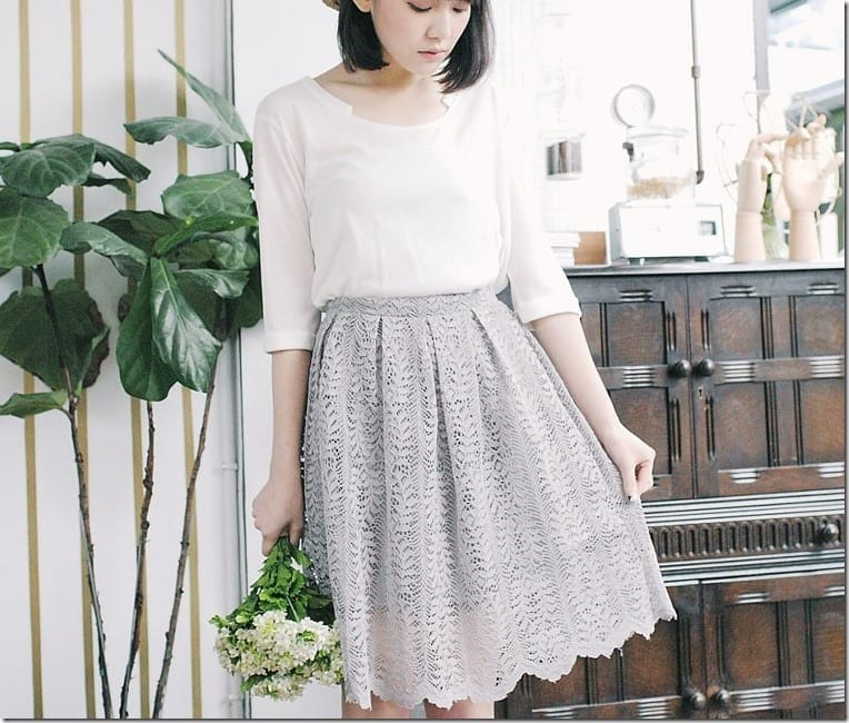 5 GREY Midi Skirts To Go With Your Minimalist OOTD