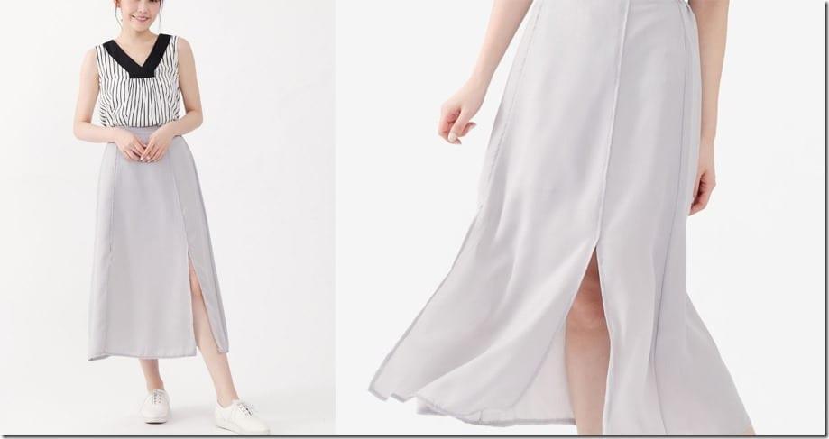 grey-side-split-midi-skirt