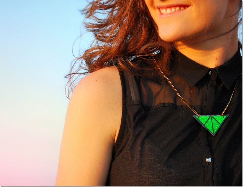 holographic-green-triangle-necklace