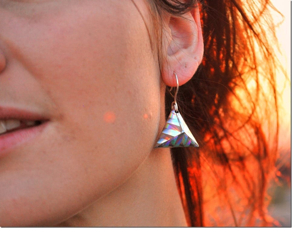 holographic-origami-triangle-earrings