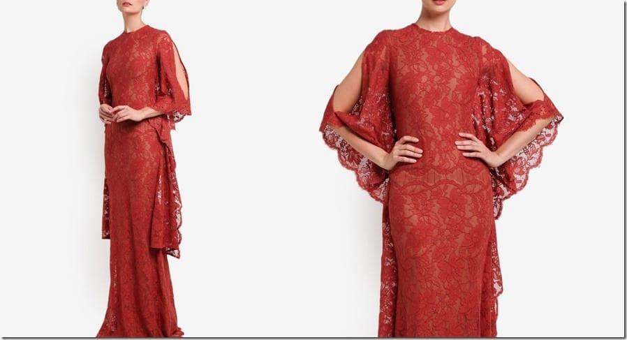 luxe-red-crystal-embellished-kaftan-dress