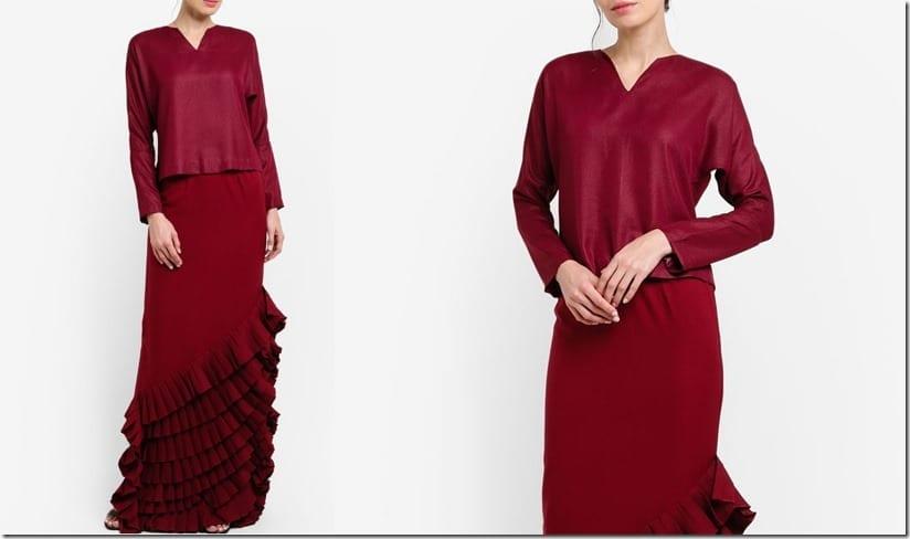 maroon-ruffle-skirt-mod-kurung