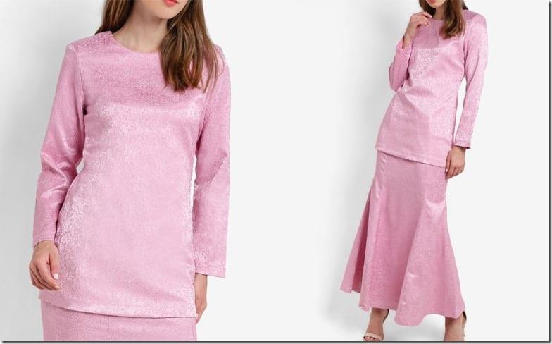 minimal-pink-jacquard-kurung-moden