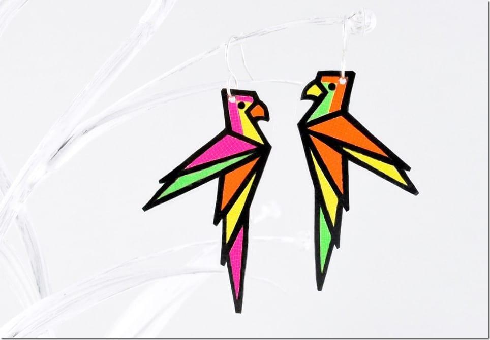 neon-fluorescent-parrot-earrings