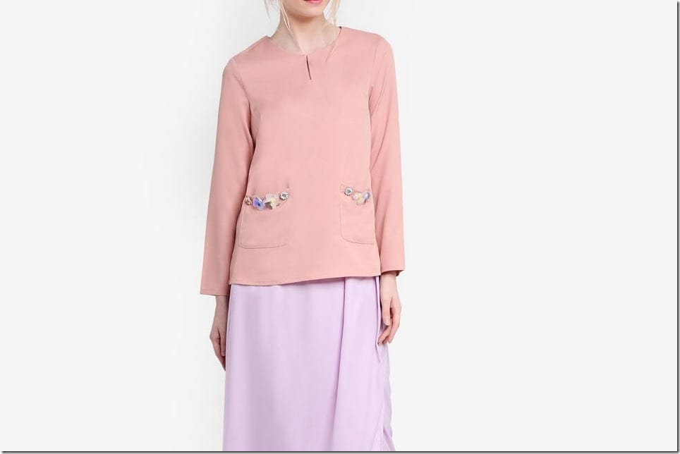 Baju Raya 2017 Idea ~ Pastel Color Block Kurung Style