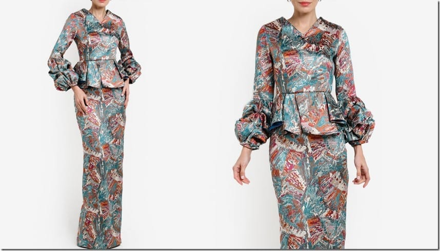 patterned-brocade-balloon-sleeve-mod-kurung