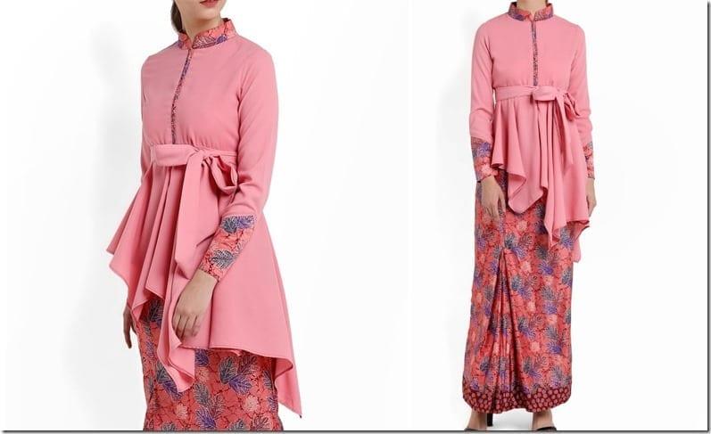 pink-mandarin-collar-batik-kurung