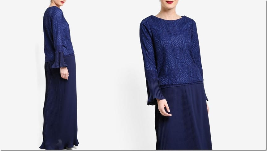 royal-blue-lace-pleated-kurung-kedah