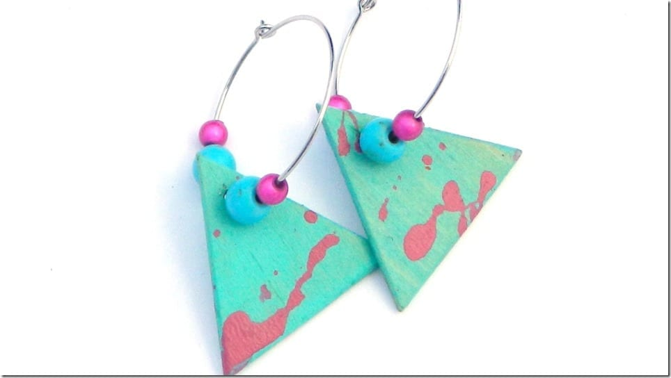 abstract-turquoise-triangle-dangle-earrings