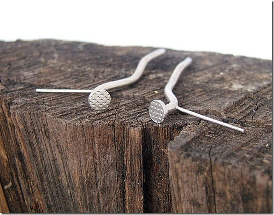 bent-nail-stud-earrings