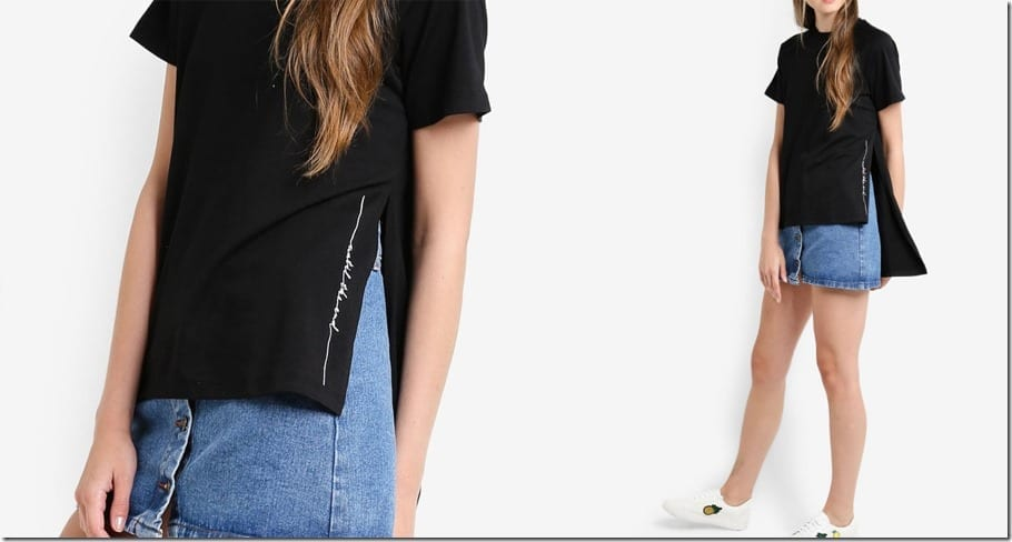 black-asymmetric-hem-embroidered-tee