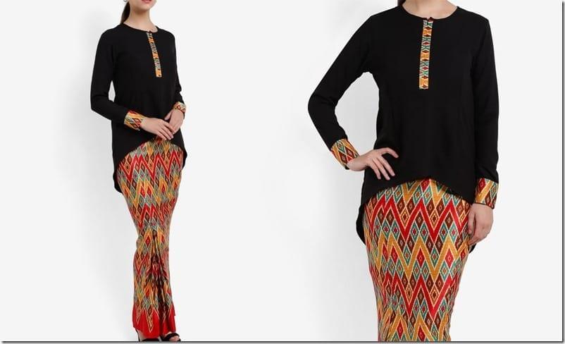 black-high-low-batik-sarawak-style-kurung