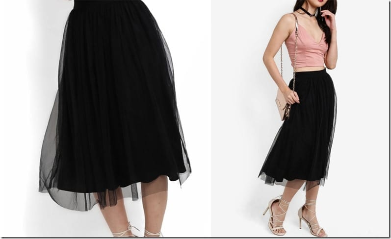 black-mesh-layered-midi-skirt
