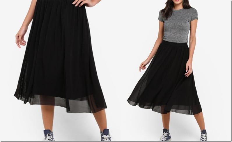black-mesh-midi-skirt