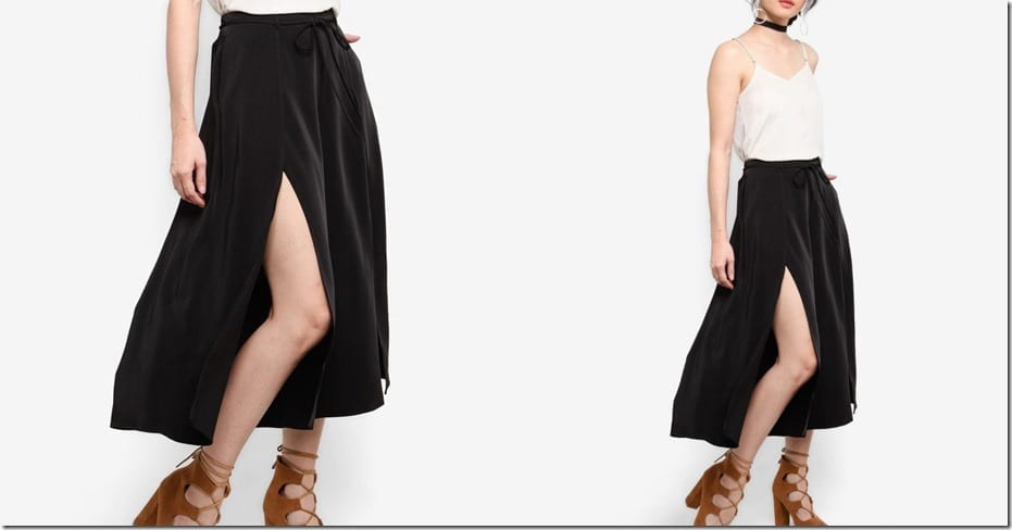 black-split-culottes