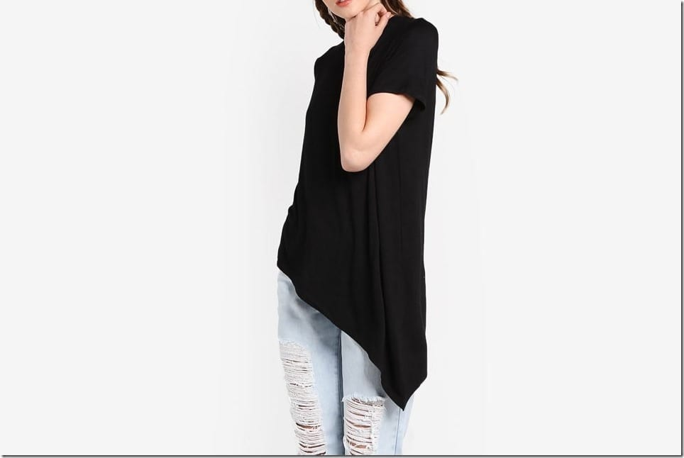 Black Tops With FUN Asymmetrical Hemlines