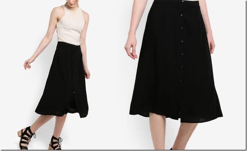 button-down-black-midi-skirt