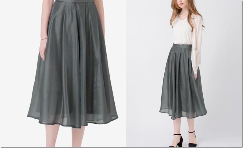 dark-grey-pleated-flowy-skirt