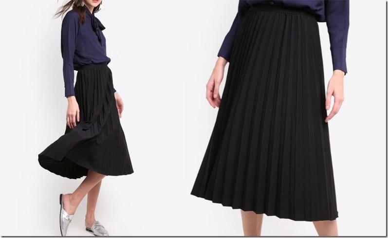 elegant-black-pleated-midi-skirt
