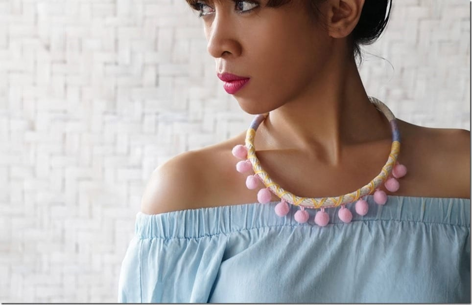 Pom Pom Necklaces To Help You Pop Out This Summer