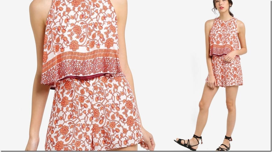 orange-floral-double-layer-romper